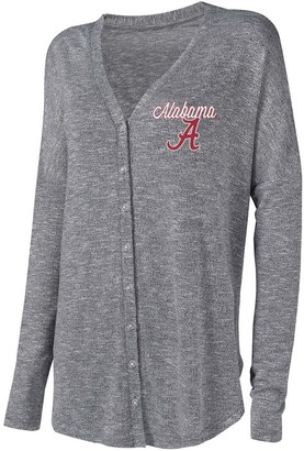 Unbranded Women's Concepts Sport Gray Alabama Crimson Tide Knit Button-Up Sweater