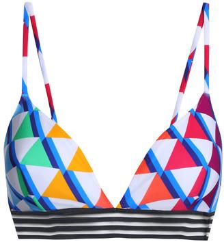 Emma Pake Printed Triangle Bikini Top