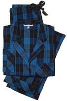 Victoria's Secret 2PC Cotton Pajama Set Flannel The Dream Plaid Blue S