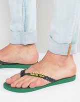Gandys Flip Flops In Rainforest Green