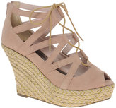 Lace Up Espradrille Wedge Shoe