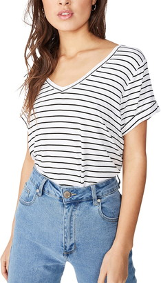 Cotton On Karly Short Sleeve V-Neck Top