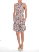 Carven Poplin Paisley Sleeveless Dress