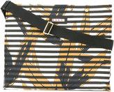 Marni striped oversized tote - women - Cotton/Calf Leather/Nylon/metal - One Size