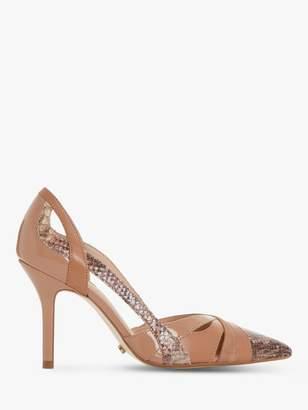 Dune Dakota Leather High Heel Court Shoes