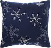 Linea Embroidered Felt Snowflake Cushion Navy