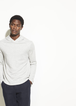 Vince Double Knit Popover Hoodie