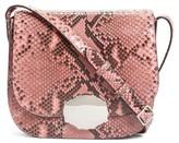 Calvin Klein 205W395Nyc Genuine Python Shoulder Bag - Pink