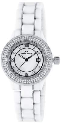 Mother of Pearl Carlo Monti Ladies Quartz Watch with Dial Analogue Display and White Ceramic Bracelet CM201-186A