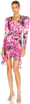 PatBO Grace Print Knee Length Dress in Fuchsia | FWRD