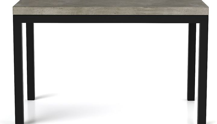 Crate & Barrel Parsons Concrete Top/ Dark Steel Base 48x28 Dining Table