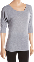 Pure Style Girlfriends Heather Gray Bow-Accent Dolman Top