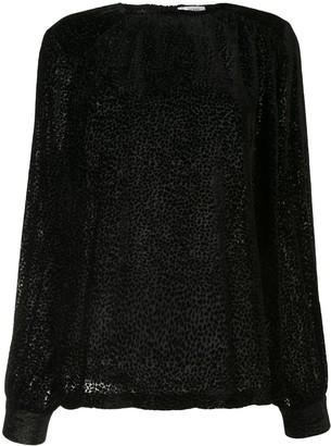 Anine Bing Debbie leopard print silk top