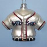 """Kurt Adler Glass Red Sox Jersey Ornament, 3.25"""""""