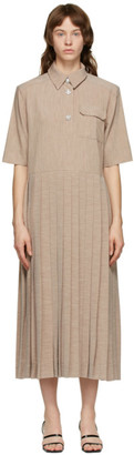 Ganni Beige Melange Suiting Dress