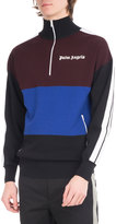 Palm Angels Colorblock Quarter-Zip Track Pullover, Multicolor