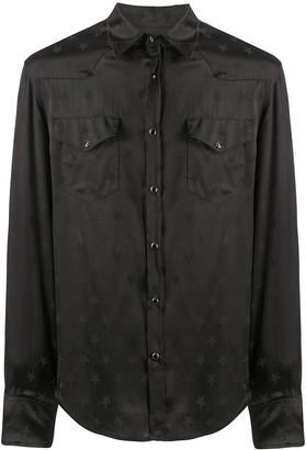 Laneus Star Jacquard Long-Sleeved Shirt