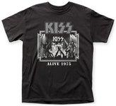 Impact Kiss Glam Metal Hard Rock Band Music Group Alive '75 Adult T-Shirt Tee