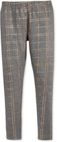 Epic Threads Girls' Metallic Plaid Leggings, Only at Macy's