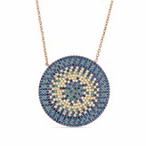 Cosanuova Flat Turquoise Disc Necklace