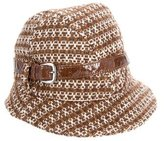 Badgley Mischka Metallic Tweed Hat