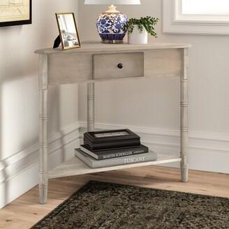 Three Posts Regan Solid Wood 3 Legs End Table with Storage Color: Vintage Grey