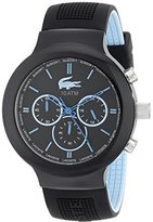 Lacoste Men's 2010720 Borneo Analog Display Japanese Quartz Black Watch
