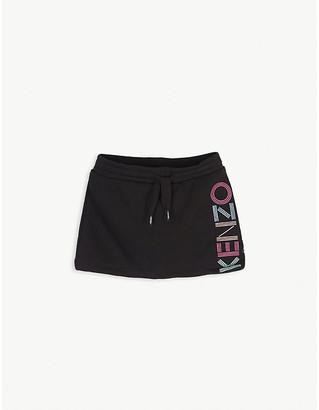 Kenzo Logo cotton sweat skirt 4-14 years