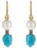 Irene Neuwirth Diamond, pearl, turquoise & yellow-gold earrings