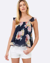 Forever New Sophie Ruffle Strap Pintuck Cami