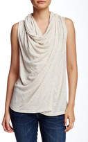 Bobeau Sleeveless One Button Tank (Petite)