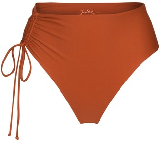 Juillet Bodhi gathered bikini bottoms
