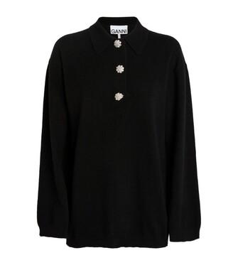 Ganni Cashmere Jewel Button Sweater