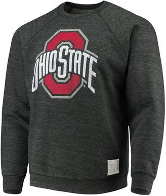 Original Retro Brand Unbranded Men's Black Ohio State Buckeyes Logo Tri-Blend Fleece Pullover Sweatshirt