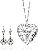 Swarovski Anne Koplik Crystal Lace Heart Necklace & Earrings