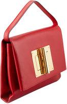Tom Ford Natalia Soft Turn-Lock Clutch Bag, Red