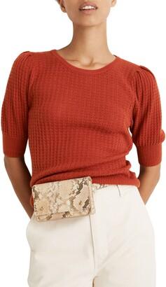 Madewell Pointelle Puff Sleeve Sweater