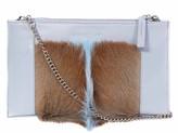 Sherene Melinda SHERENE MELINDA Clutch Springbok Handbag In Baby Blue With A Fan Feature