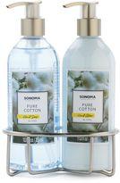 SONOMA Goods for LifeTM Pure Cotton Bath Caddy Gift Set