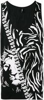 Versus lion logo print tank top - men - Cotton - M