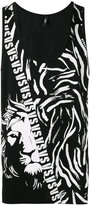 Versus lion logo print tank top - men - Cotton - S