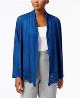 Alfred Dunner Faux-Suede Cutout Jacket