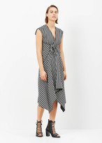 Proenza Schouler white / black capsleeve dress with knot