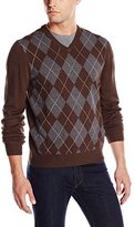 Haggar Men's Argyle V-Neck Sweater