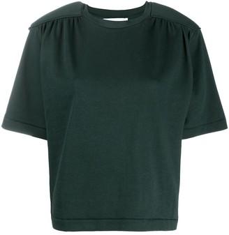 REMAIN gathered shoulder pad T-shirt