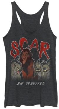 Fifth Sun Disney Women's The Lion King Scar Hyenas Tri-Blend Tank Top