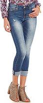 Celebrity Pink Mid Rise Mega Cuff Stretch Skinny Crop Jeans
