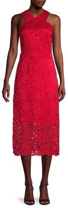 Sam Edelman Crisscross Lace Gown