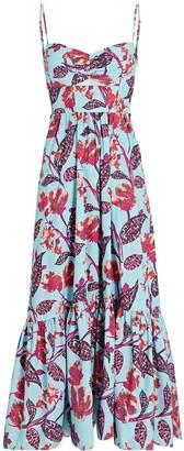 A.L.C. Emilia Printed Midi Dress