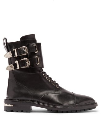 Toga Virilis Buckled Leather Boots - Black